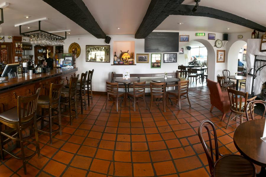 The bar and reception area, Point Bar and Restaurant, Magilligan Point, Northern Ireland